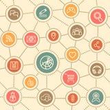 Surfendes Muster des Netzes Lizenzfreie Stockfotos