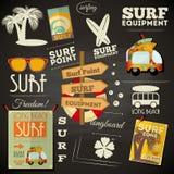 Surfendes Plakat Tafel-Design Lizenzfreie Stockfotos