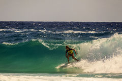 Surfendes Quiksilver u. Roxy Pro World Title Event Stockfoto