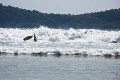 Surfer που περιέρχεται στα κύματα στοκ φωτογραφία με δικαίωμα ελεύθερης χρήσης