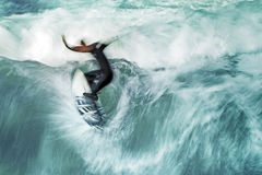 Surfer. An image of a nice motion blur surfer royalty free stock photos