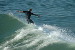 Surfer. At Imperial Beach, San Diego, California Royalty Free Stock Image