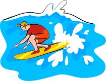 Surfer illustration libre de droits