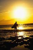 surfer Obrazy Royalty Free