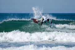 Surfer during the 4th stage of MEO Royalty Free Stock Photography