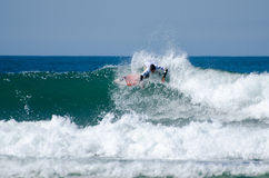 Surfer during the 4th stage of MEO Stock Images