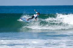 Surfer during the 4th stage of MEO Stock Image