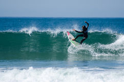 Surfer during the 4th stage of MEO Royalty Free Stock Photos