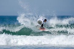 Surfer during the 4th stage of MEO Stock Photos