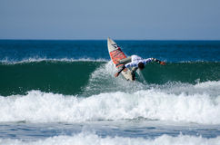 Surfer during the 4th stage of MEO Royalty Free Stock Photo