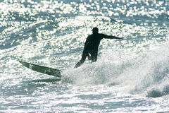 Surfer. On the wave Royalty Free Stock Photo
