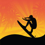 Surfer. Vector illustration of a surfer Royalty Free Stock Images