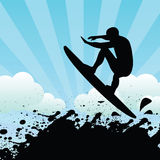 Surfer. Vector illustration of a surfer stock illustration