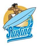Surfer in actie Stock Fotografie