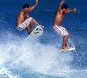 Surfer air sequence royalty free stock image