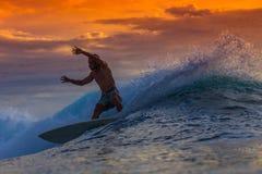 Surfer on Amazing Wave Stock Photos