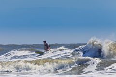 Surfer on the atlantic Royalty Free Stock Photography