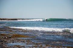 Surfer au point de Jake, Australie occidentale photo libre de droits