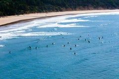 Surfer auf dem Ozean Stockfotografie