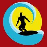 Surfer Background Stock Photo