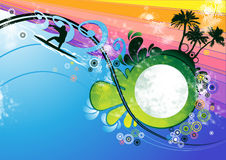 Surfer background vector Stock Photos