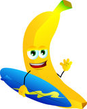 Surfer banana Stock Image