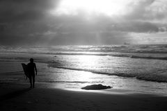 Surfer on the beach Royalty Free Stock Photography