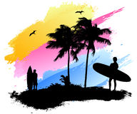 Surfer beach Royalty Free Stock Photo