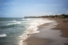 Surfer beach with waves Royalty Free Stock Image