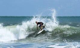 Surfer bei Bali Stockfoto