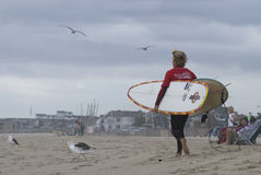 Surfer Belmar Royalty Free Stock Photo