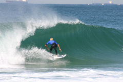Surfer bleu Images libres de droits