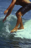 Surfer on board Stock Image