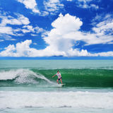 Surfer with board Royalty Free Stock Photo