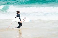 Surfer at Bondi Beach Stock Photography