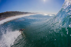 Surfer Bottom Top Wave Water  Stock Photography