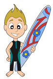 Surfer boy cartoon Stock Image