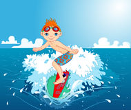 Surfer boy Stock Photography