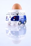 Surfer Camper Van Egg Cup Royalty Free Stock Image