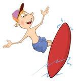 Surfer cartoon Stock Photos