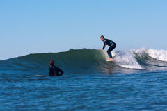 Surfer CJ Nelson Surfing in California stock images