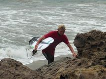 California Surfing Competition Point Mugu stock images