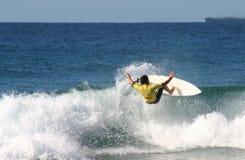 Surfer d'action Image stock