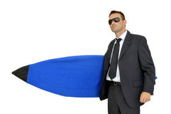 Surfer d'affaires Photo libre de droits