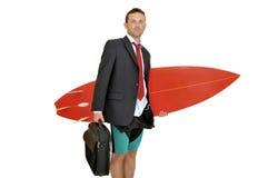 Surfer d'affaires Photo stock
