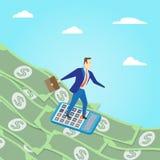 Surfer d'argent Concept d'affaires Illustrati surfant de vecteur d'argent illustration de vecteur