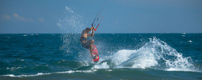 Surfer de cerf-volant Photo stock