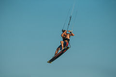 Surfer de cerf-volant Photographie stock libre de droits