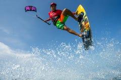 Surfer de cerf-volant Images stock