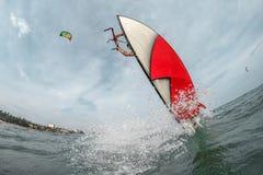 Surfer de cerf-volant Image libre de droits